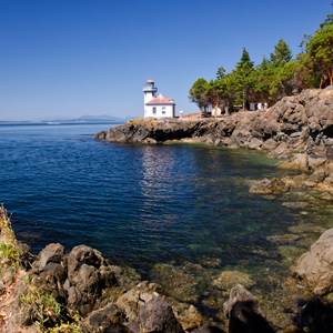sailing charters through san juan islands - lighthouse