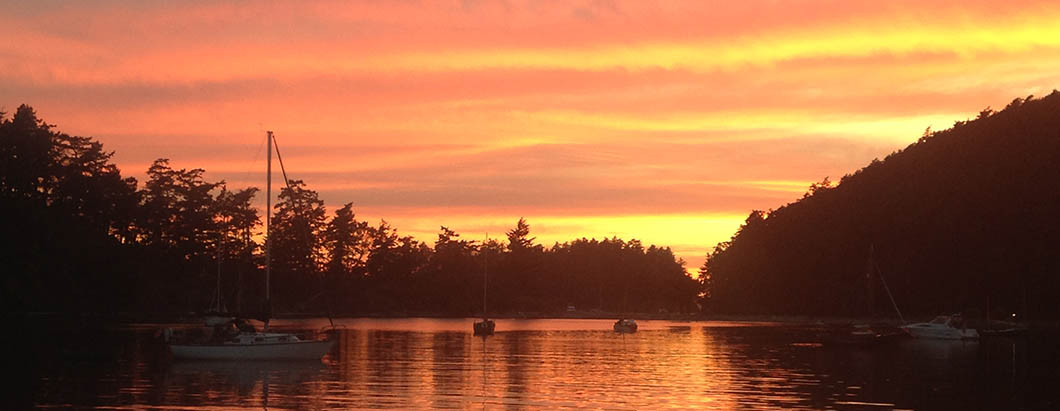 sunset sailing in the san juan islands with nw sailing adventures